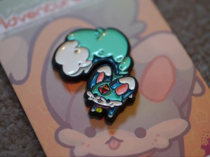 Mischievous Carbuncle Pin Closeup